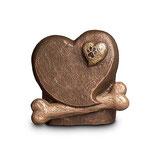 UGK212 Handgemachte Urne aus hochwertiger Keramik mit Bronze überzogen