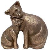 KURK08 Katzenurne aus hochwertiger Keramik mit Bronze überzogen - 0,75 Liter