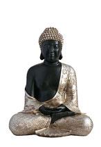 GD8011M Buddha Urne in schwarz/altsilber - 2,2 Liter