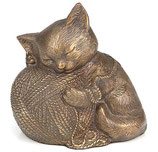 D9146 Katzenurne aus hochwertigem Messing B-Ware - 0,6 Liter