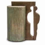 UGK24 Handgemachte Urne aus hochwertiger Keramik mit Bronze überzogen