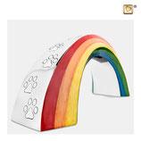 """P660S Tierurne """"Rainbow"""" aus hochwertigem Messing mit Pfotenabdrücken - 0,8 Liter"""