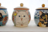 Personalisierte handbemalte Künstler-Urne für Katzen 0,5 Liter Füllmenge