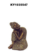 Mini Buddha Urne in bronzefarben oder weiß lackiert - 0,025 Liter