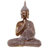 GD321M Buddha Urne in goldfarben/weiß mit Zierspiegeln - ,075 Liter