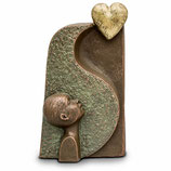 UGK25 Handgemachte Urne aus hochwertiger Keramik mit Bronze überzogen