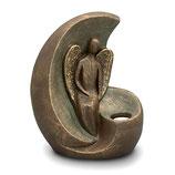 UGK301 Handgemachte Urne aus hochwertiger Keramik mit Bronze überzogen