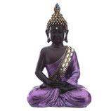 GD338M Buddha Urne schwarz/lilafarben lackiert - 0,9 Liter