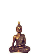 KY1035548 Mini Buddha Urne in altbronzefarben lackiert - 0,002 Liter