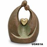 Handgemachte Urne aus hochwertiger Keramik mit Bronze überzogen