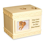 "AS-49555 Hundeurne mit Bilderrahmen ""Dogs leave paw prints in your heart forever"""