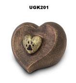Handgemachte Urne aus hochwertiger Keramik mit Bronze oder Silber überzogen - 1 Liter