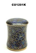 Cloisonne Tierurne von Hand mit Emaille bemalt - 0,11 Liter