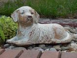 """Hundeurne """"liegender Hund"""" in cremefarben oder blaugrau - 1 Liter"""