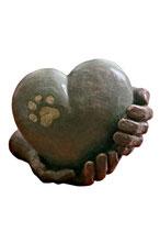UGK65P Handgemachte Urne aus hochwertiger Keramik mit Bronze überzogen - 1 Liter
