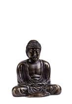 ABNL70094 Mini Buddha Urne von einem Künstler aus bronzierter Zinnlegierung - 0,08 Liter