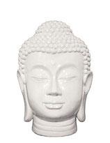 KY1035323 Buddha Urne in weiß/hochglanz - 1,3 Liter