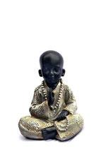 """ZV-B10 Buddha Urne in schwarz/silberfarben """"Shaolin"""" - 0,8 Liter"""