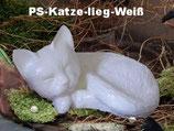 """Katzenurne """"schlafende Katze"""" aus hochwertiger Keramik in 2 verschiedenen Farben - 0,6 Liter"""