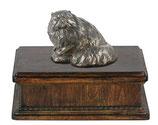 """Katzenurne """"Perserkatze"""" aus Holz mit einer Katzen-Skulptur - 3,5 Liter"""