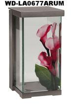 Sehr hochwertige Grablaterne aus Aluminium mit Blumenmotiv