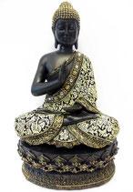 GD23048XL Buddha Urne mit Stoffgewand - 1,4 Liter