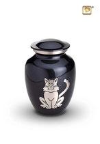 HU19105 Katzenurne aus hochwertigem Messing mit einer Katzenabbildung - 0,5 Liter