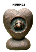Handgemachte Hundeurne aus hochwertiger Keramik in 2 Ausführungen - 1 Liter