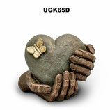 Handgemachte Urne aus hochwertiger Keramik mit Bronze ober Silber überzogen - 1 Liter