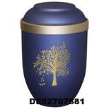 Bio Tec Urne in blau mit verschiedenen Motiven