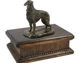 """Hundeurne """"Barsoi"""" aus Holz mit einer Skulptur - 3,5 Liter"""