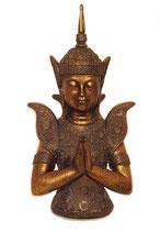 """KY1035540 Buddha Urne """"Tempelwache"""" bronzefarben - 1,5 Liter"""