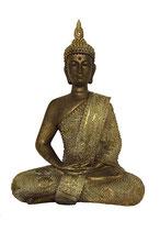 KY1035534 Wunderschöne Buddha Urne in bronzefarben lackiert - 0,6 Liter