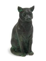 "PB-SCU Wunderschöne große Katzenurne ""Sitzende Katze"" - 2,5 Liter"