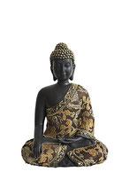 GD23013 Buddha Urne mit Stoffgewand - 0,6 Liter