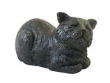 """PB-CC Wunderschöne Katzenurne """"Liegende Katze"""" antik-bronzefarben lackiert- 1 Liter"""