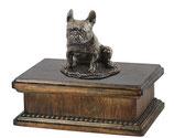 """Urne """"Französische Bulldoge"""" mit Skluptur in 2 verschiedenen Ausführungen - 3,5 Liter"""