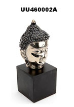 UU460002A Wunderschöne Buddha Urne aus Aluminium und Holz - 0,4 Liter