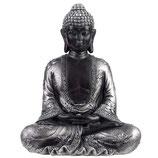 GD306M Buddha Urne schwarz/silberfarben - 0,9 Liter