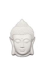 KY1035328 Buddha Urne in weiß/hochglanz lackiert - 0,25 Liter