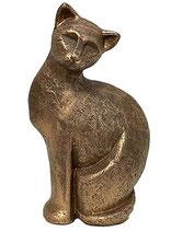 KURK07 Katzenurne aus hochwertiger Keramik mit Bronze überzogen - 0,75 Liter