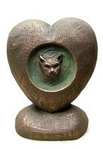KURK05 Handgemachte Katzenurne aus hochwertiger Keramik - 1 Liter