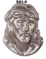 Jesuskopf zur Befestigung am Grabstein mit 5 Jahren Garantie