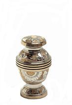 HU186K Tierurne aus Messing gold- und silberfarben - 0,11 Liter