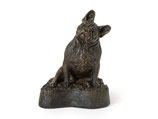 """PB-FBT Tierurne """"Französische Bulldogge"""" sitzend, antik-bronzefarben lackiert - 0,5 Liter"""
