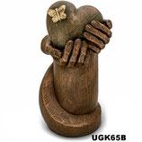 Handgemachte Urne aus hochwertiger Keramik und mit Bronze überzogen