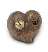 UGK203 Handgemachte Tierurne aus hochwertiger Keramik mit Bronze überzogen - 1 Liter