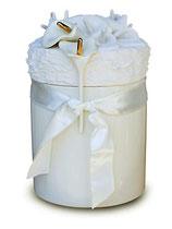 KU021 Urne aus hochwertiger Keramik mit Blumen verziert - 5 Liter