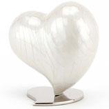 Wunderschöne Tierurne in Herzform aus Aluminium und Messing - 1,5 Liter