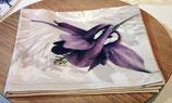 serviette satin coton  Herbacées et autres fleurs...